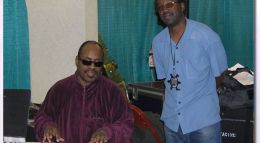 David with Stevie Wonder