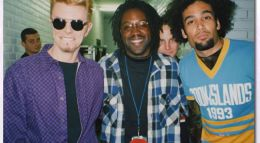 David with Bowie and Ben Harper